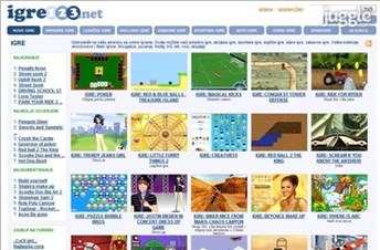 igre123.net Homepage Screenshot