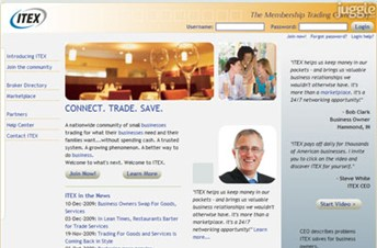 itex.com Homepage Screenshot