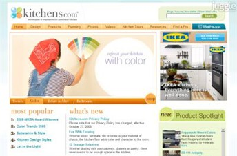kitchens.com Homepage Screenshot