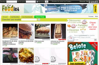 lesfoodies.com Homepage Screenshot