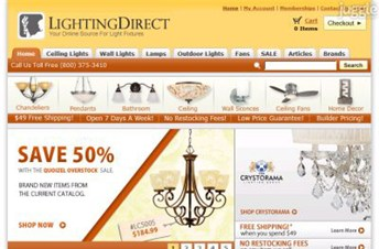 lightingdirect.com Homepage Screenshot