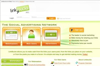 linkbucks.com Homepage Screenshot