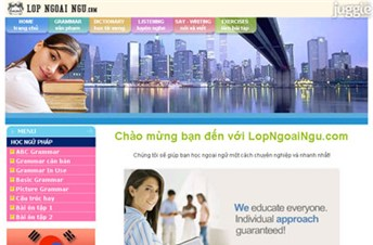 lopngoaingu.com Homepage Screenshot
