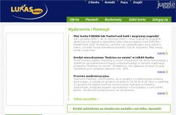 lukasbank.pl Homepage Screenshot