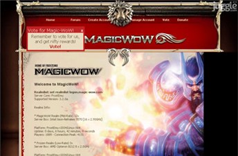 magic-wow.com Homepage Screenshot