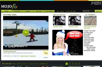 mojoflix.com Homepage Screenshot