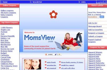 momsview.com Homepage Screenshot