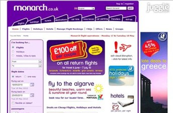 monarch.co.uk Homepage Screenshot