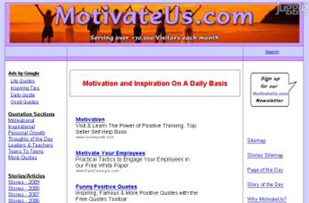 motivateus.com Homepage Screenshot