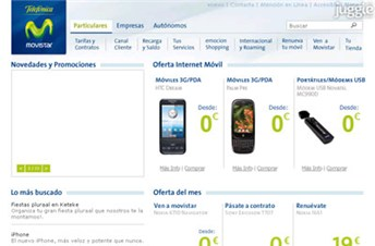 movistar.es Homepage Screenshot