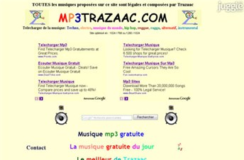 mp3trazaac.com Homepage Screenshot