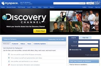 myspace.com Homepage Screenshot