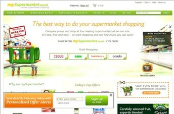 mysupermarket.co.uk Homepage Screenshot
