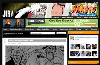 narutoshippudenspain.blogspot.com Homepage Screenshot