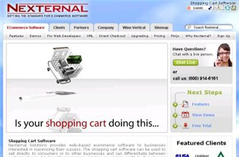 nexternal.com Homepage Screenshot