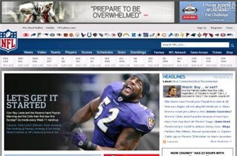 nfl.com Homepage Screenshot
