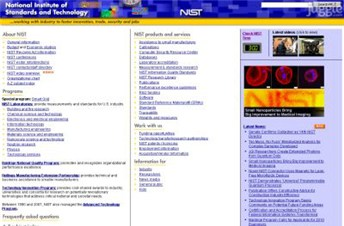 nist.gov Homepage Screenshot