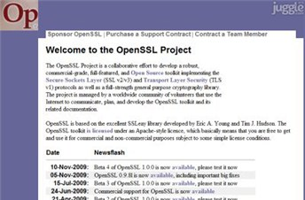 openssl.org Homepage Screenshot