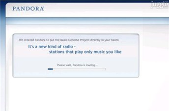 pandora.com Homepage Screenshot