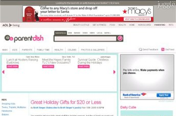 parentdish.com Homepage Screenshot