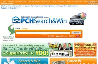 pchsearch.com Homepage Screenshot