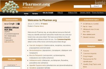 pharmer.org Homepage Screenshot