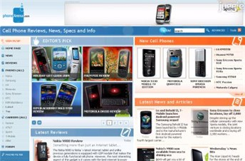 phonearena.com Homepage Screenshot