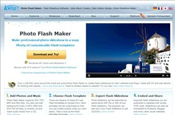 photo-flash-maker.com Homepage Screenshot