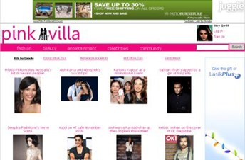 pinkvilla.com Homepage Screenshot