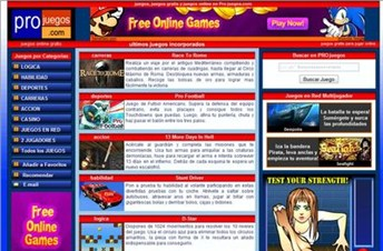 projuegos.com Homepage Screenshot