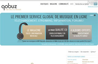 qobuz.com Homepage Screenshot