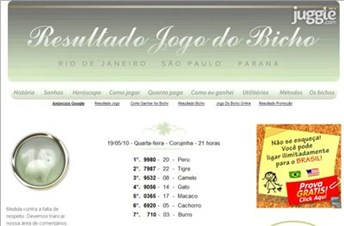 resultadojogodobicho.net Homepage Screenshot
