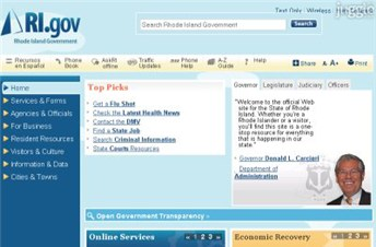 ri.gov Homepage Screenshot