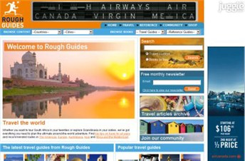 roughguides.com Homepage Screenshot