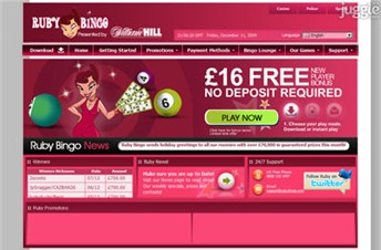 rubybingo.com Homepage Screenshot