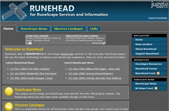 runehead.com Homepage Screenshot