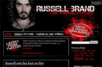 russellbrand.tv Homepage Screenshot