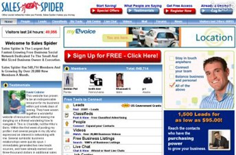salespider.com Homepage Screenshot