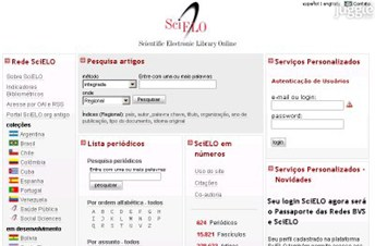 scielo.org Homepage Screenshot