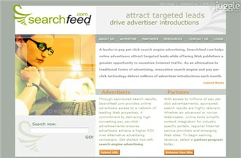 searchfeed.com Homepage Screenshot
