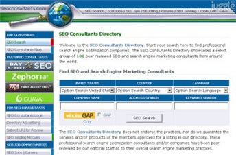 seoconsultants.com Homepage Screenshot