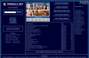 serials.ws Homepage Screenshot