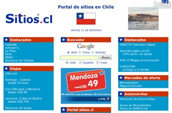 sitios.cl Homepage Screenshot
