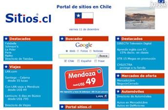 sitios.cl Homepage Screenshot