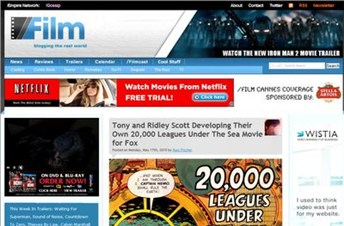 slashfilm.com Homepage Screenshot