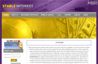 stableinterest.com Homepage Screenshot