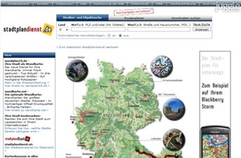 stadtplandienst.de Homepage Screenshot