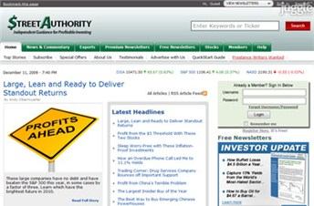 streetauthority.com Homepage Screenshot