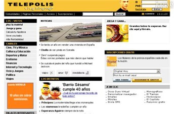 telepolis.com Homepage Screenshot