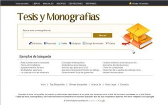 tesisymonografias.net Homepage Screenshot